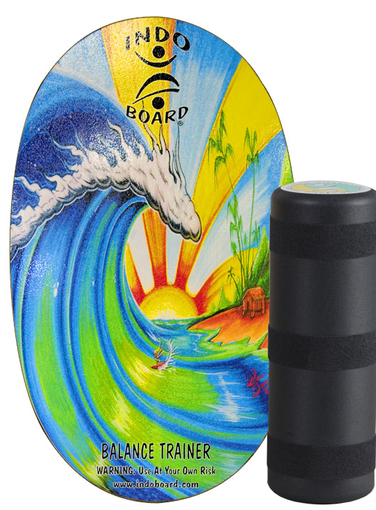 Indo Board Original Bamboo beach / with roller
